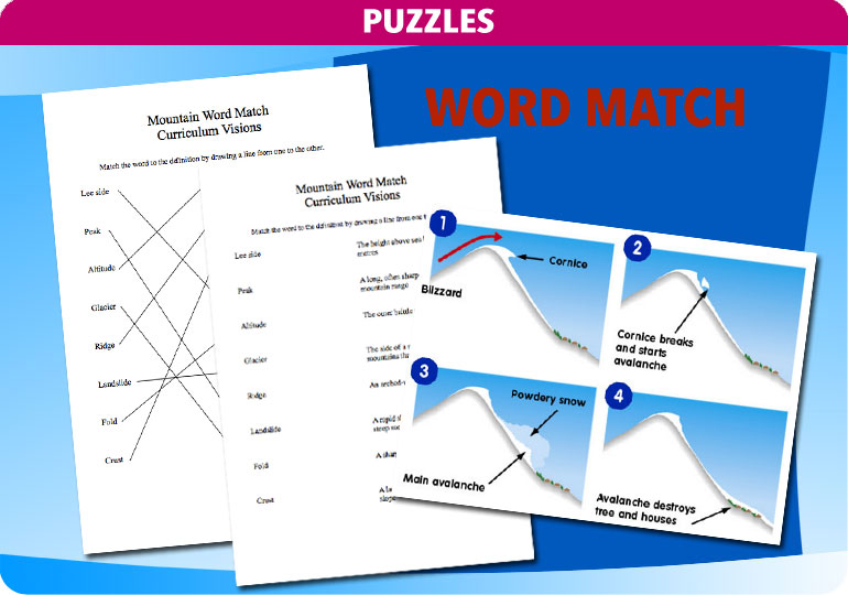 Curriculum visions mountain word match ccuart Image collections