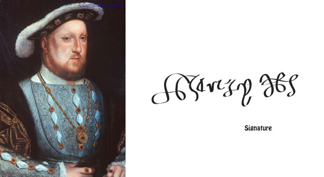 Who was henry viii henry viii was the tudor king who was for Tudor signatures