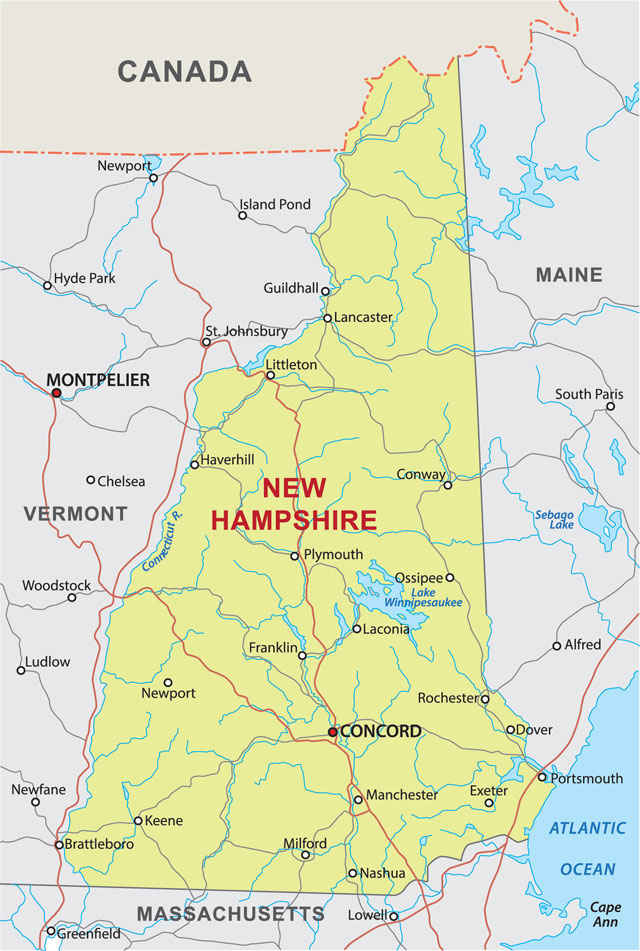 What Is New Hampshire New Hampshire The Granite State Is One - New england states and capitals