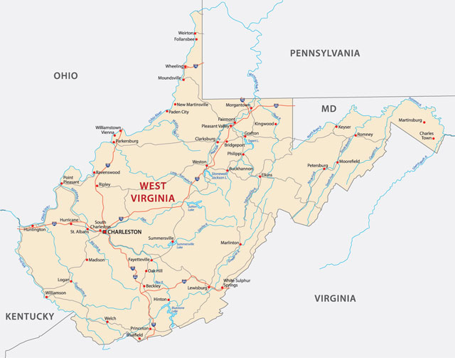 Where Is West Virginia West Virginia The Mountain State Is - Where is charleston
